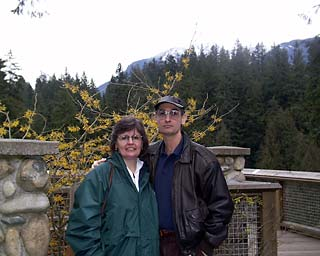 Linda and Bill at Capilano Bridge, Vancouver, B.C.
