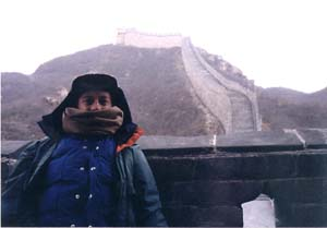 Mongolian Correspondent Chuck Dingée at the Great Wall