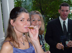 Colleen smoking cigar photo