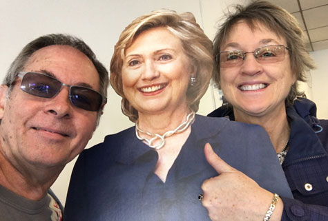 Hillary Clinton with Kathy Sheehan and Chuck Dingee